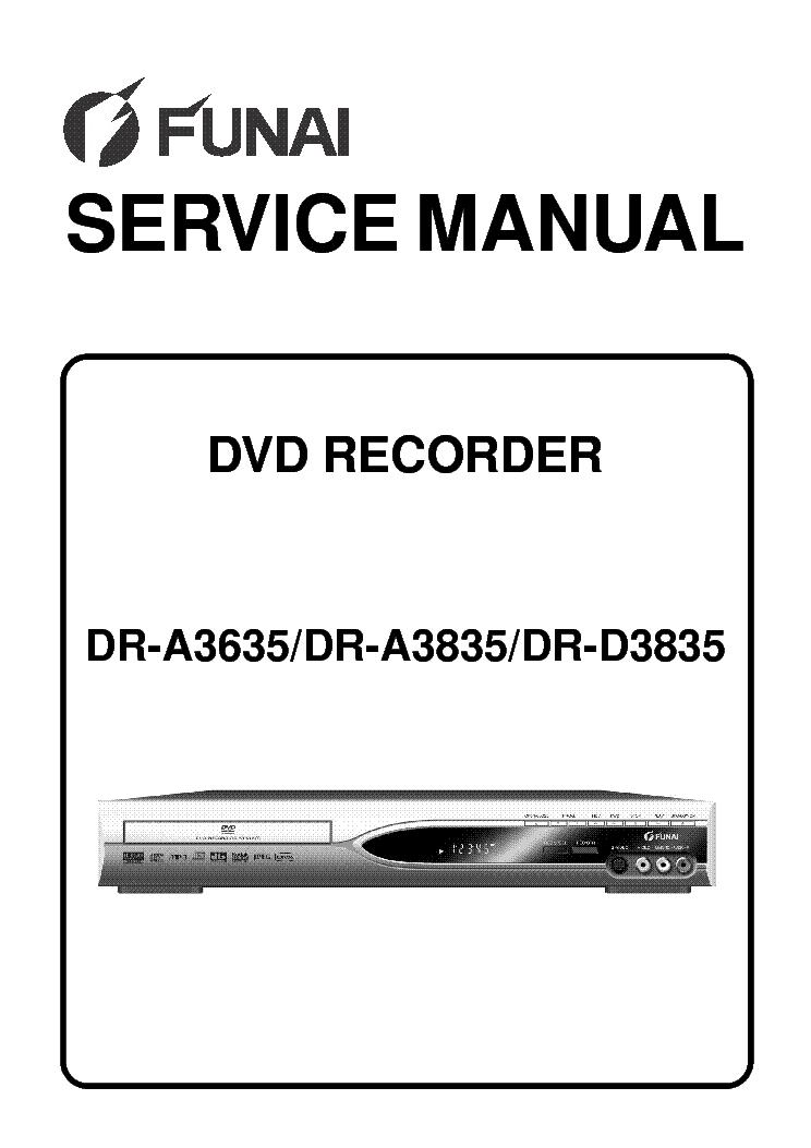 FUNAI DR-A3635,A3835,D3835 Service Manual download