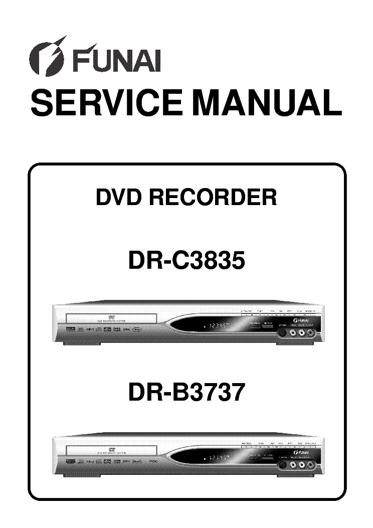 FUNAI DR-C3835,B3737 Service Manual download, schematics
