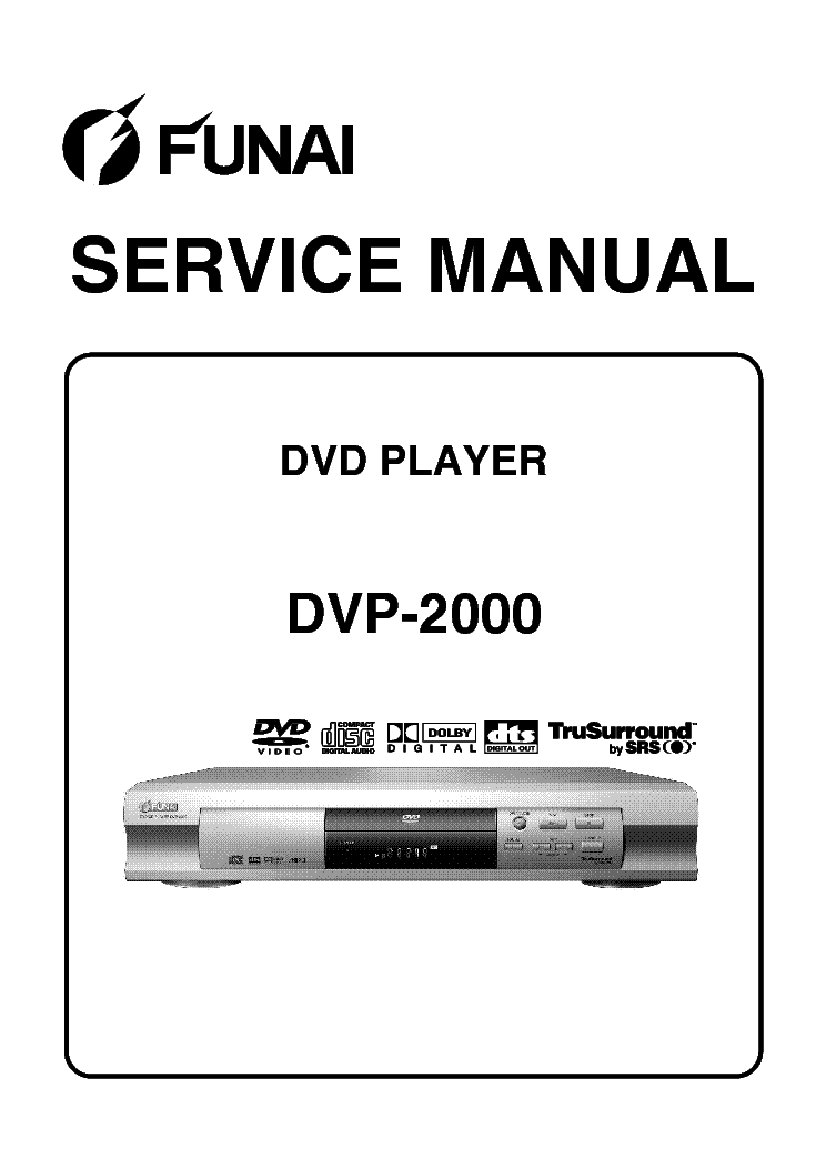 FUNAI DVP-2000 SM Service Manual download, schematics