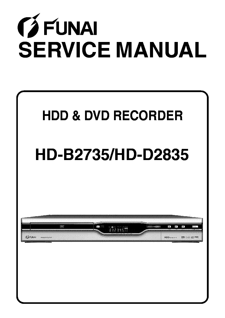 FUNAI HD-B2735 HD-D2835 Service Manual download
