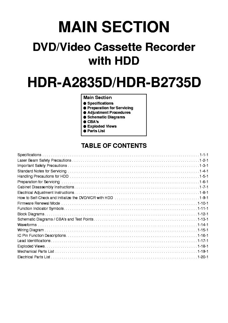 FUNAI HDR-A2835D B2735D-E434GED JBD Service Manual
