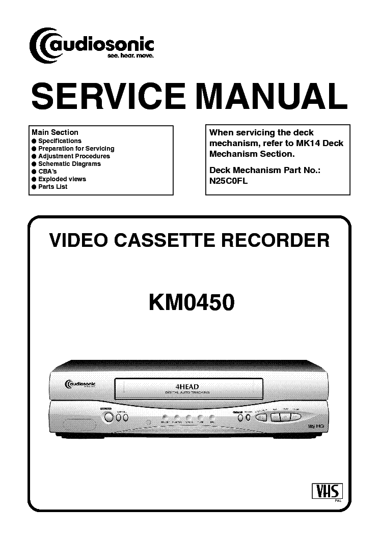 FUNAI KM0450 AUDIOSONIC HM345AD Service Manual download