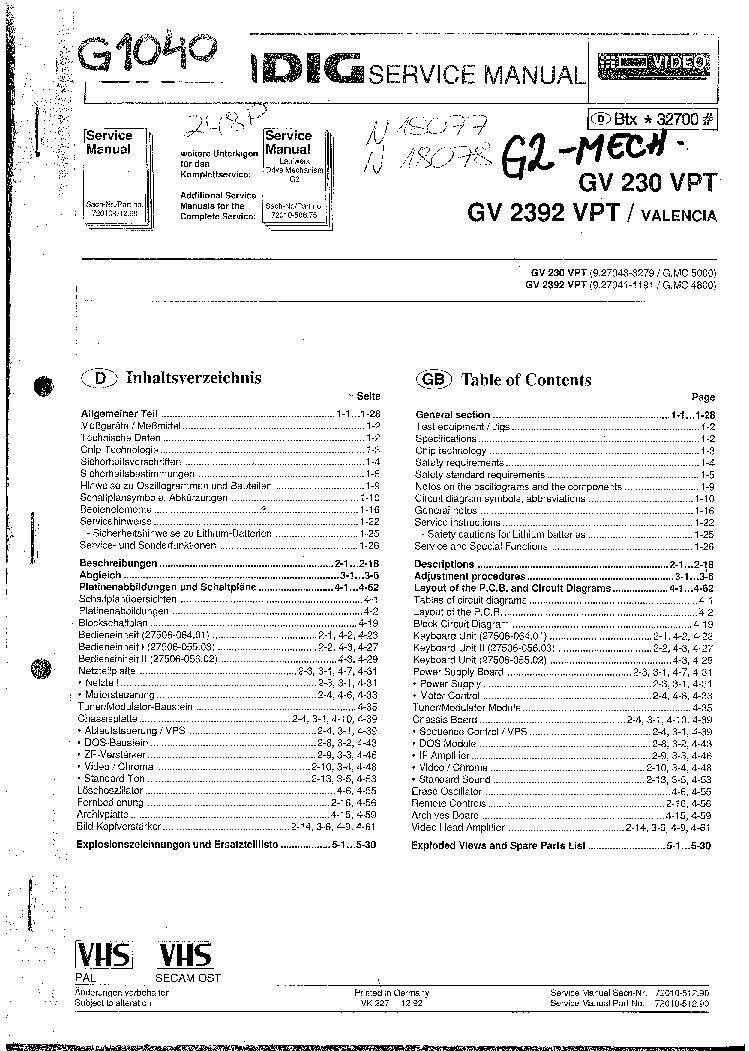 GRUNDIG GDR-6460 Service Manual download, schematics