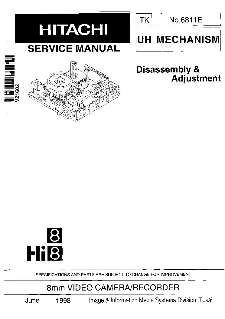 HITACHI VT-UX6430A VT-FX6430A VCR Service Manual download