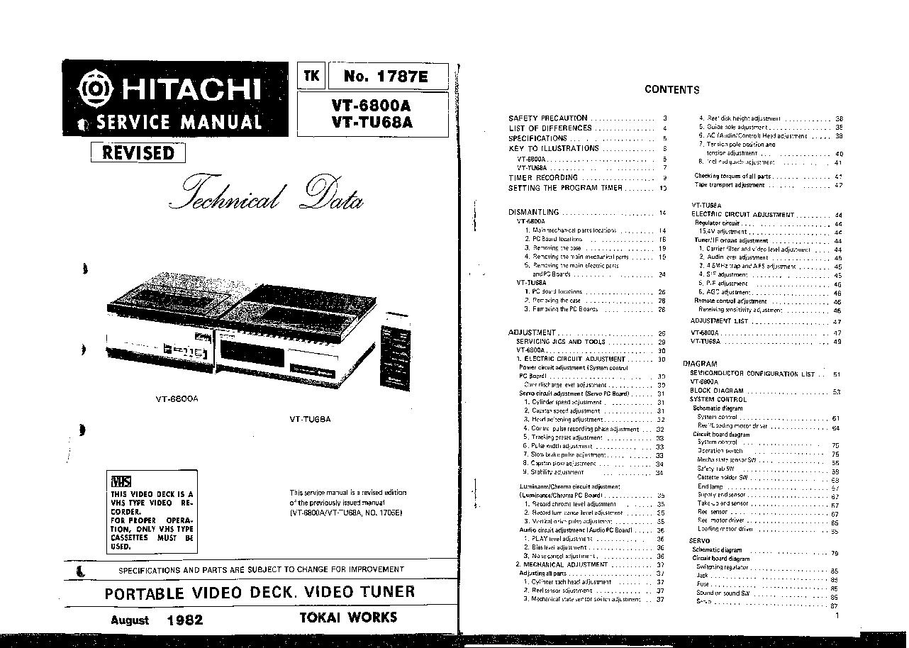 HITACHI VTMX900 VTMX905 VTMX910 VTMX902 VTMX930 VTMX932