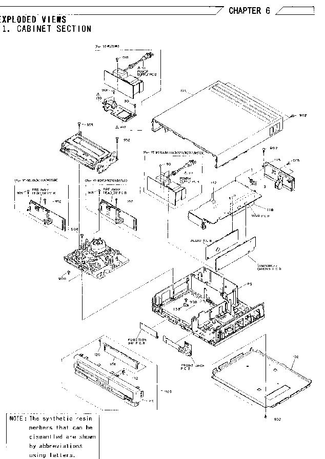 HITACHI VT-M170 171 265 270 272 MECH TAP Service Manual