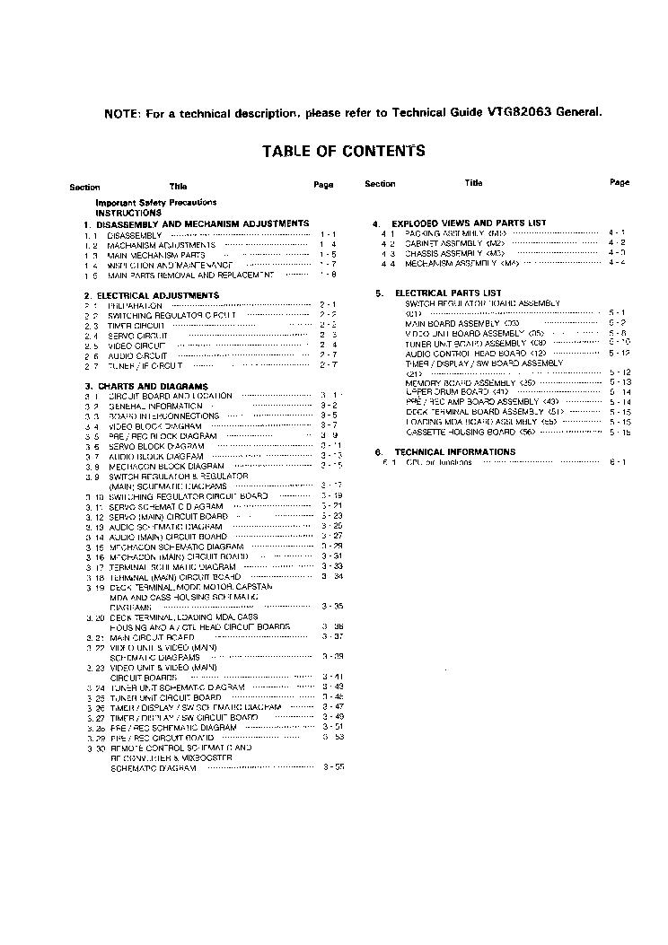 JVC HR-D560EE SM Service Manual download, schematics