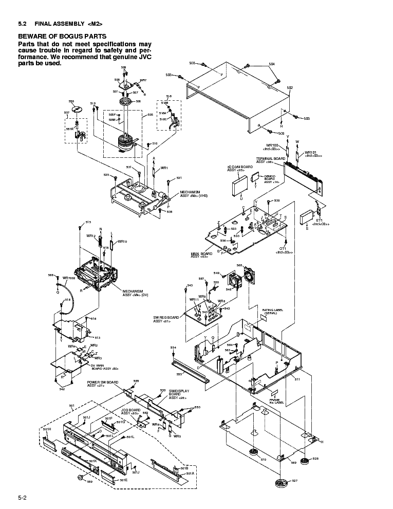JVC HR-DVS3UPART Service Manual download, schematics