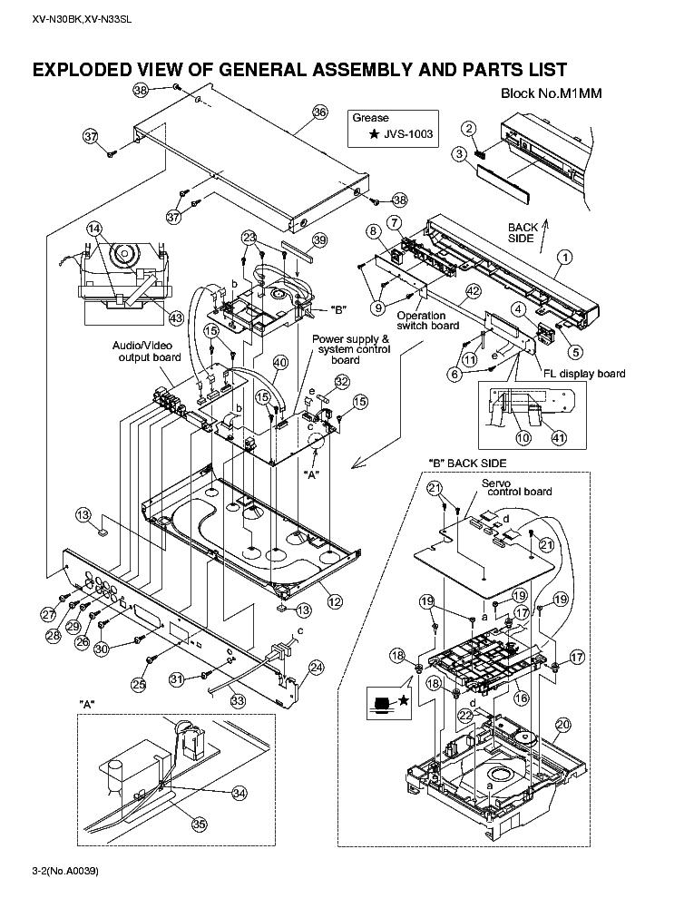 JVC XV-N30BK N33SL PART Service Manual download