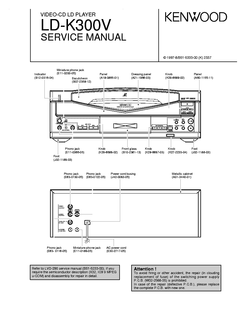 KENWOOD DV-402 DVF-3530 3530S SM Service Manual download