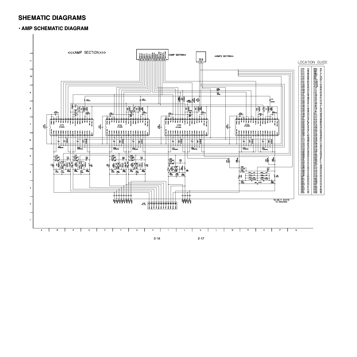 LG DA3630 Service Manual download, schematics, eeprom