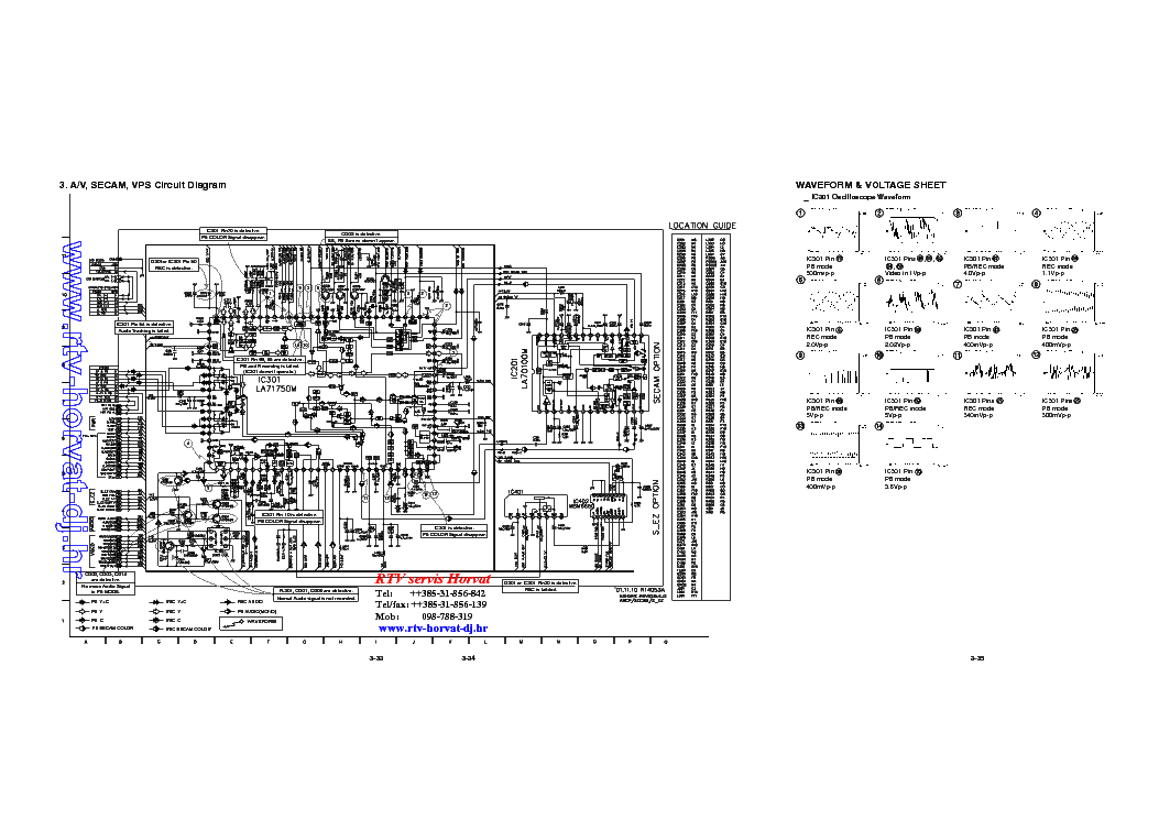 LG LV2398 SCH Service Manual download, schematics, eeprom