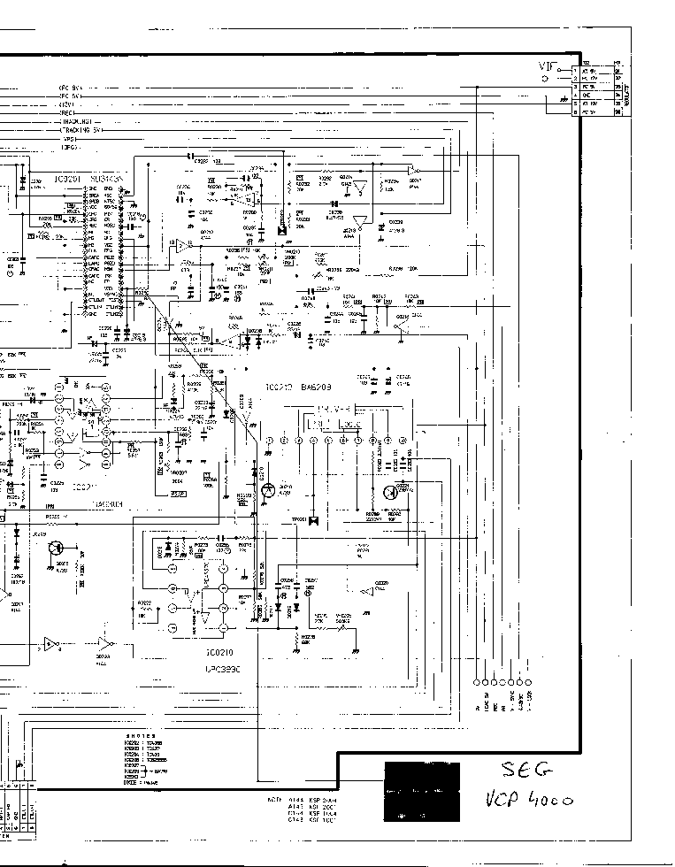 LG VCP-4000 SCH Service Manual download, schematics