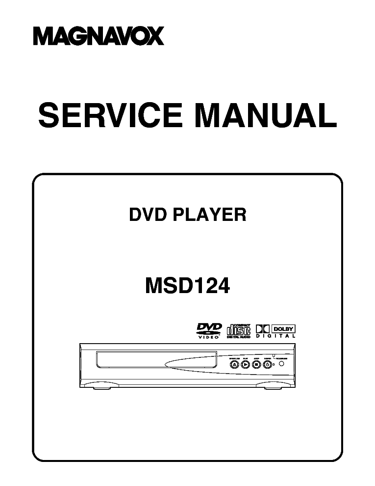 MAGNAVOX MSD124 Service Manual download, schematics
