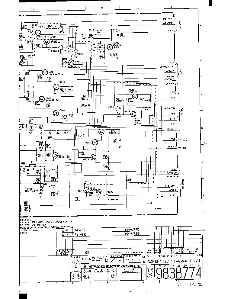 MITSUBISHI HS-U795 VCR Service Manual download, schematics