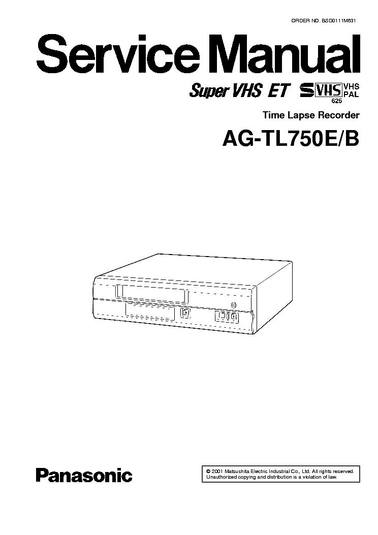 PANASONIC AG-TL750 Service Manual download, schematics