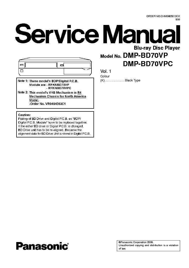PANASONIC DMR-EH57EC Service Manual download, schematics