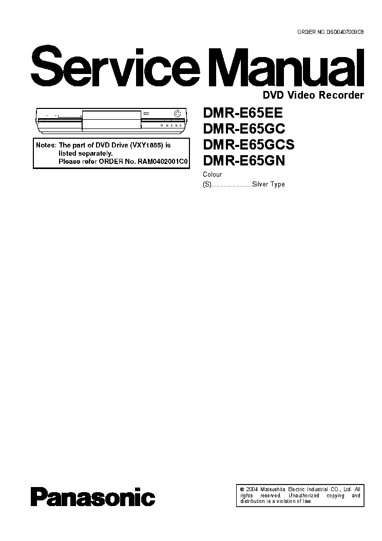 PANASONIC SA-VK-750-GCP Service Manual free download