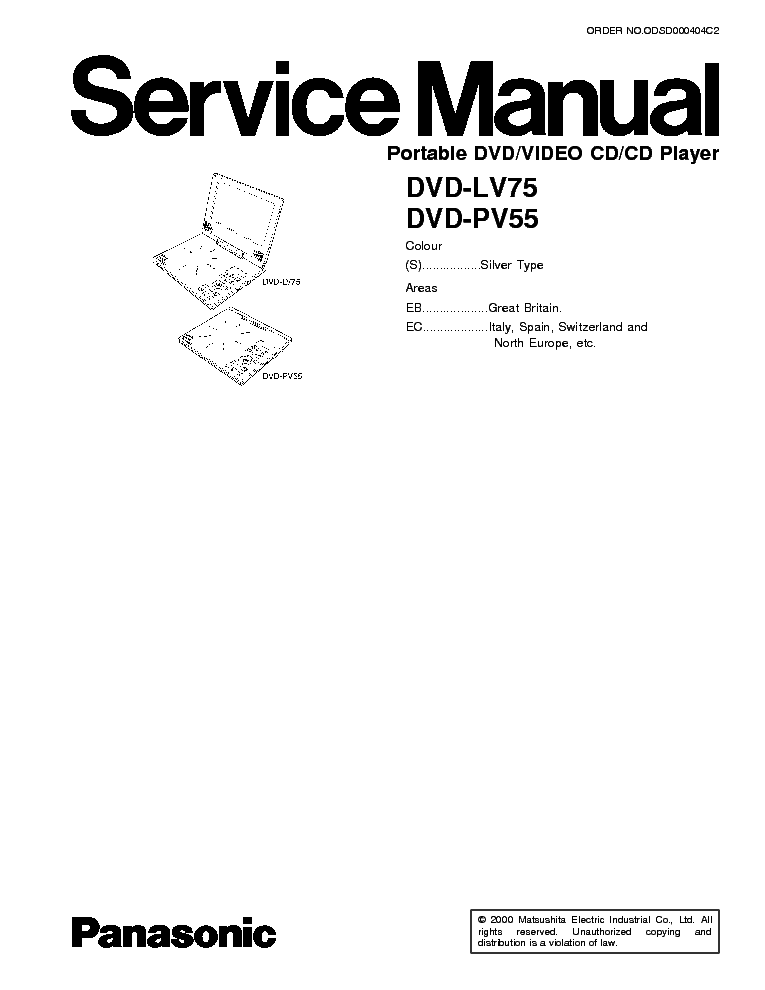 PANASONIC DMR-EH65EE Service Manual free download