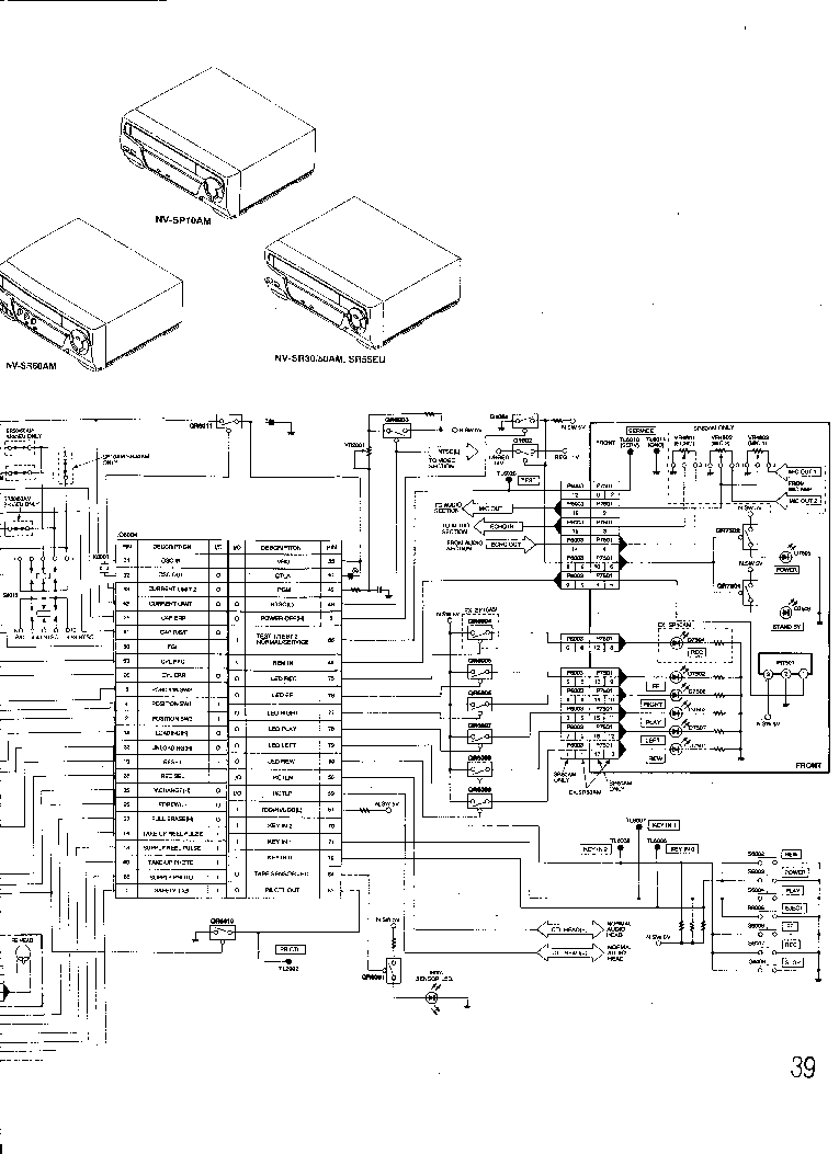 PANASONIC NV-SR50AM Service Manual download, schematics