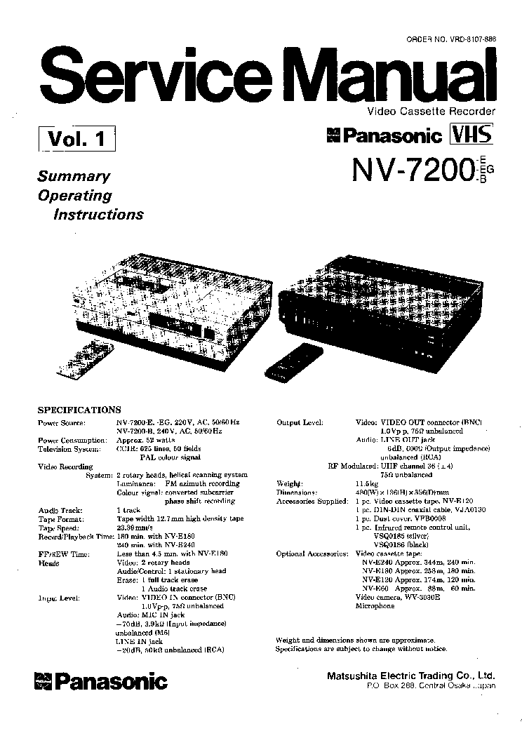 PANASONIC DVD-A360EC-K SM Service Manual free download