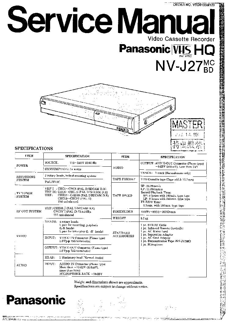 PANASONIC DVD-S31EG S35E EB EG Service Manual download
