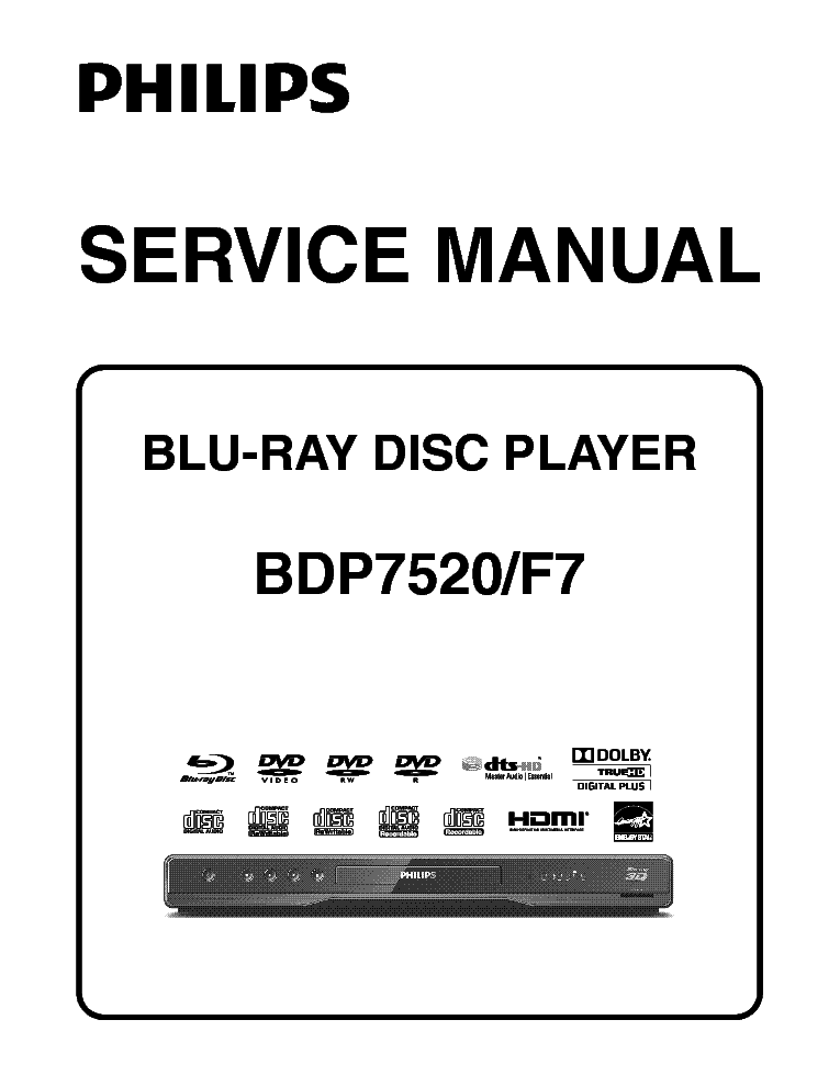 PHILIPS DVD723-743 EN Service Manual download, schematics