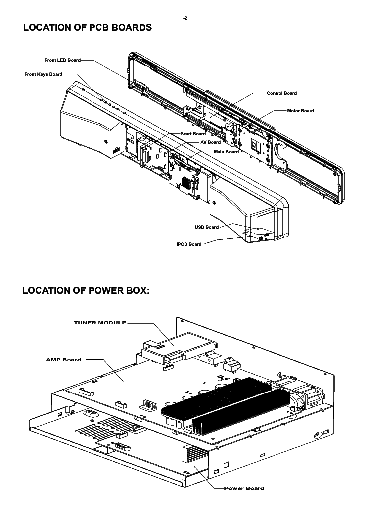 PHILIPS HTS6100 Service Manual download, schematics