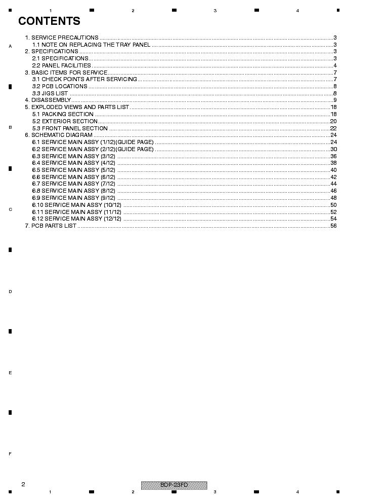 PIONEER BDP-23FD RRV3908 BLU-RAY PLAYER Service Manual