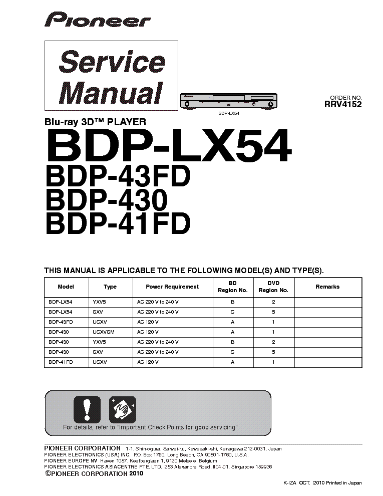 PIONEER DV-717 Service Manual free download, schematics