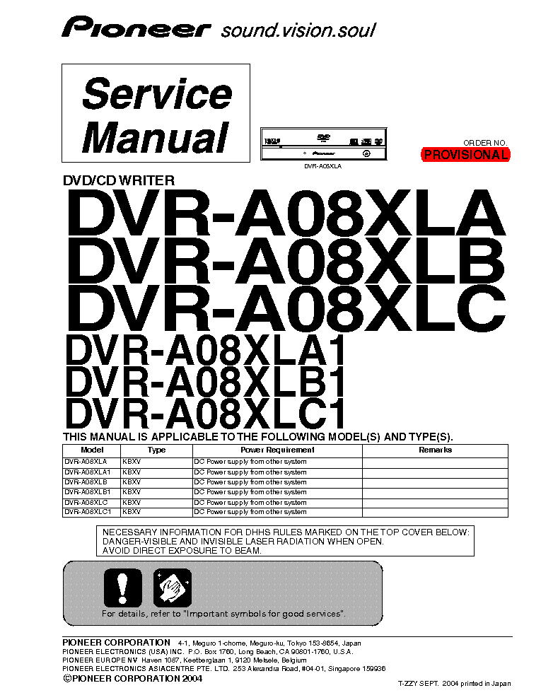PIONEER DV-366-S Service Manual free download, schematics