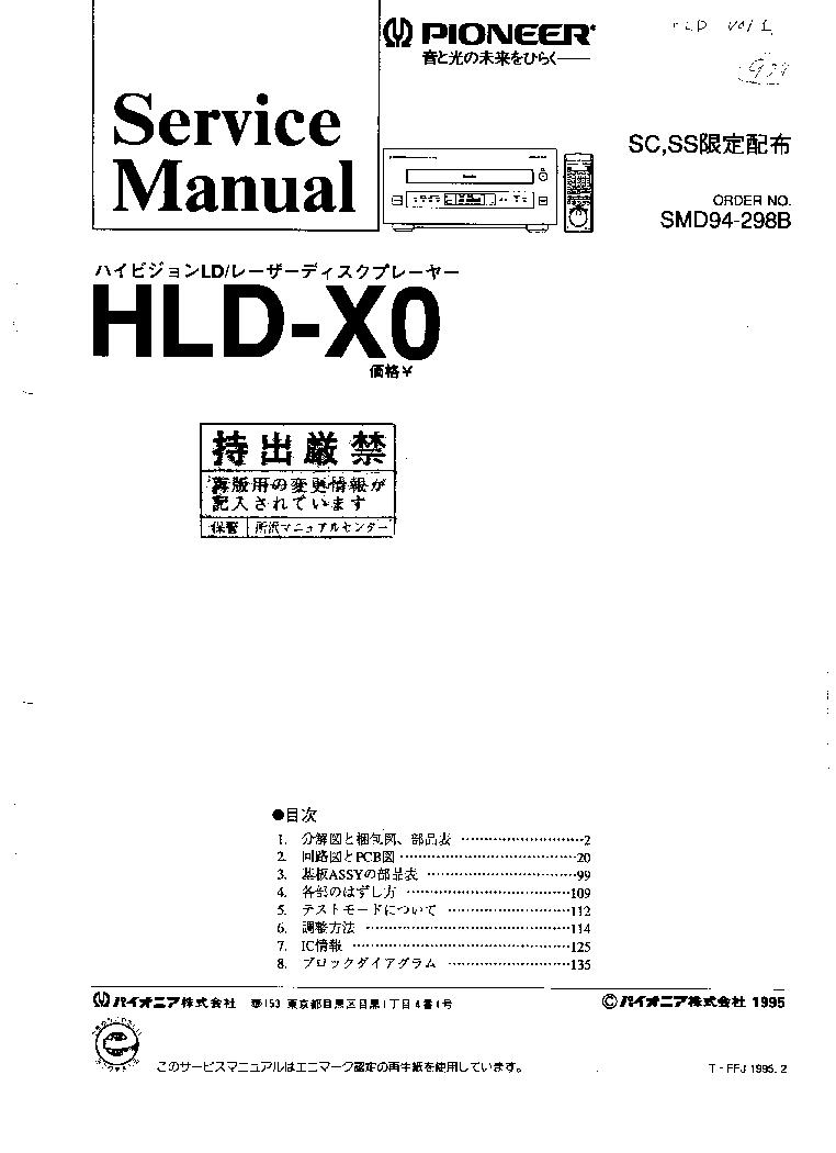 PIONEER AVH-P4200DVD P4250DVD SM Service Manual free