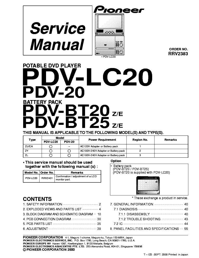 PIONEER DV-696AV,S Service Manual download, schematics