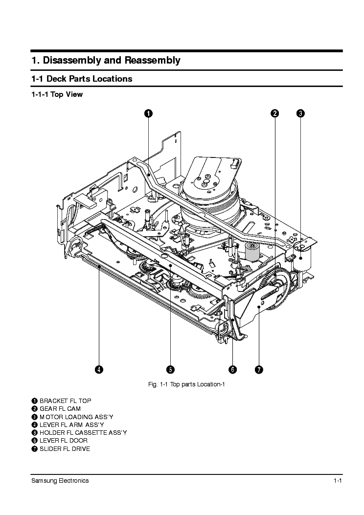 SAMSUNG DX-9R MECHANICA SM Service Manual download