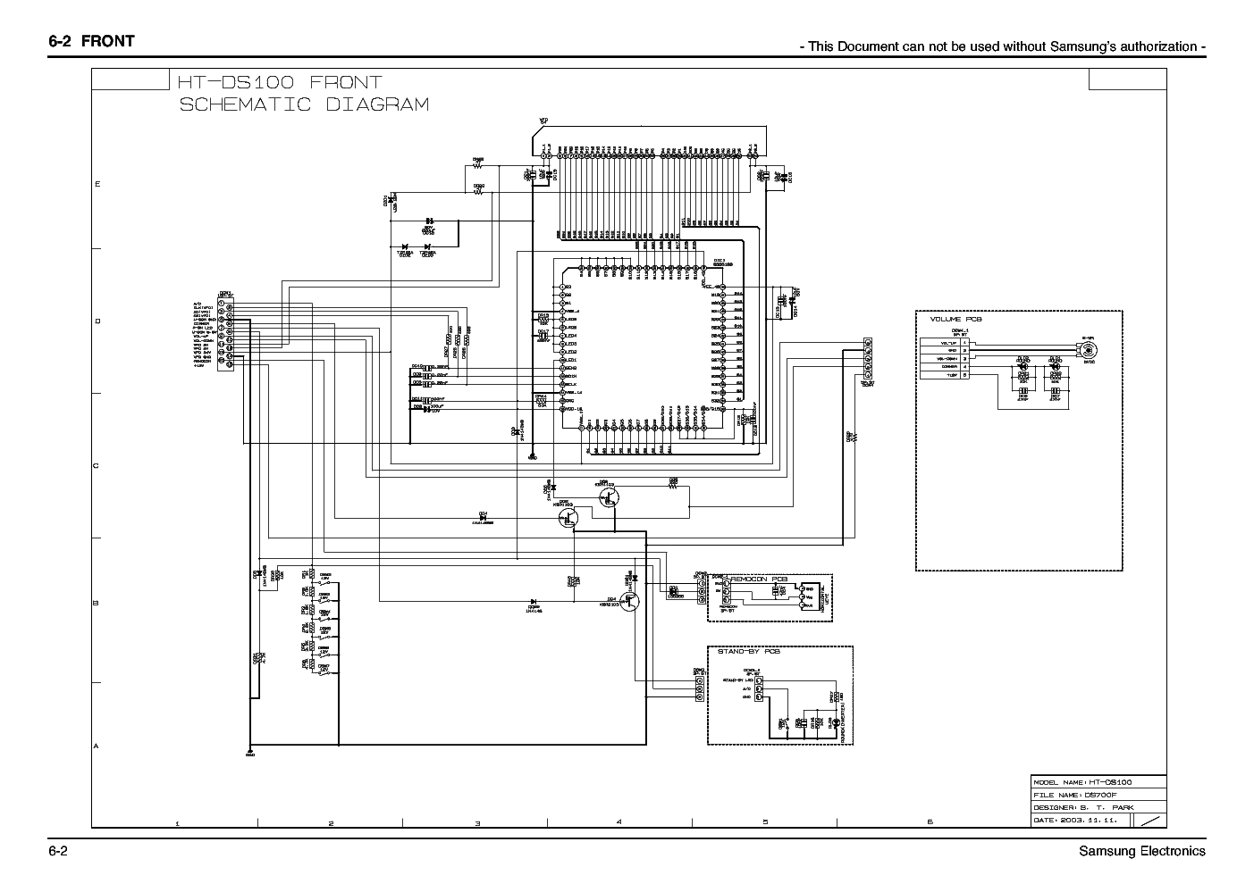 SAMSUNG HT-DS100 SCH Service Manual download, schematics