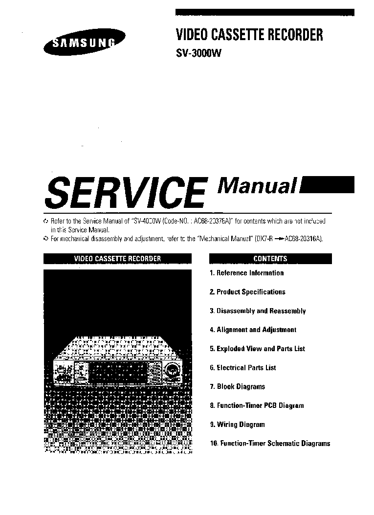 SAMSUNG DVD-V6700 Service Manual download, schematics