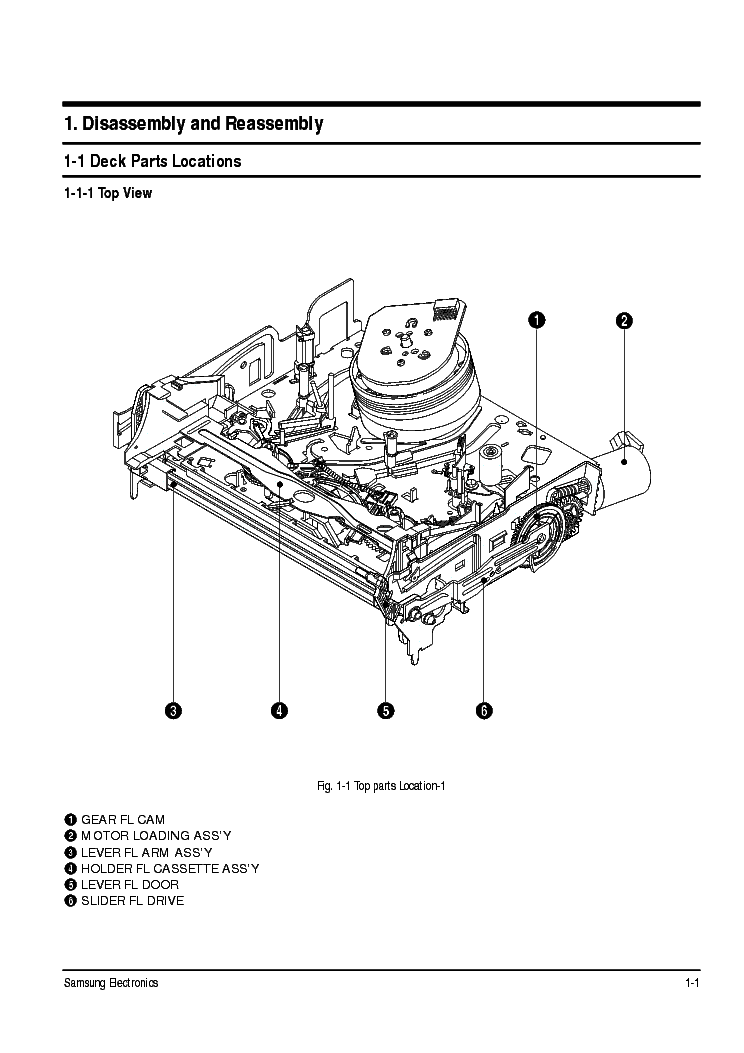 SAMSUNG TS-10 MECHANISM SM Service Manual download