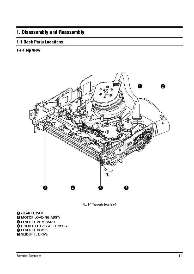 SAMSUNG TS-10A MECHANISM SM Service Manual download