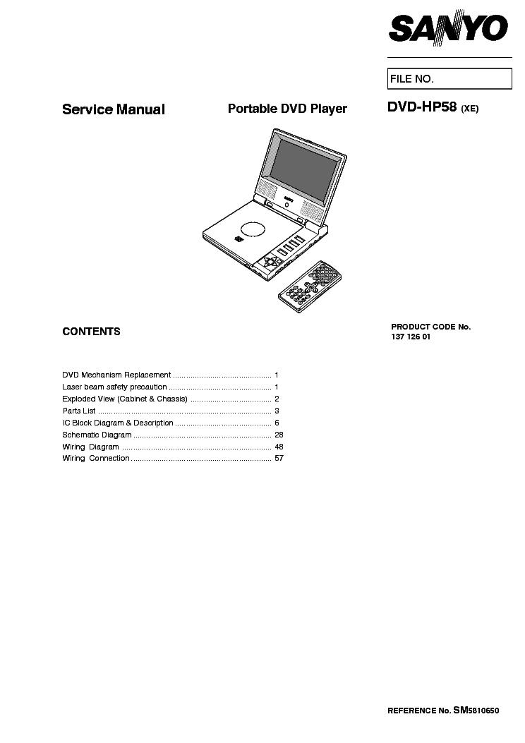 SANYO HV-DX2E HV-DX2EV HV-DX2SP DVD-VCR Service Manual
