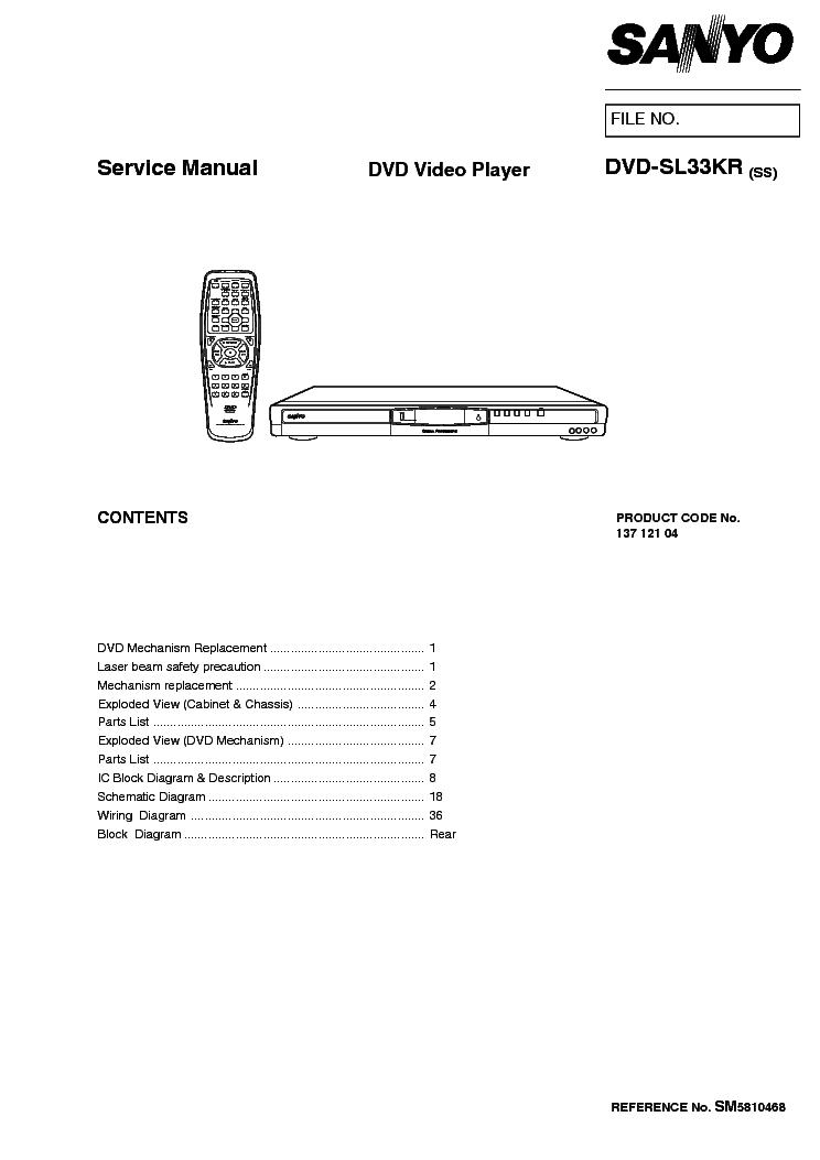SANYO VHR-D500G EX Service Manual download, schematics