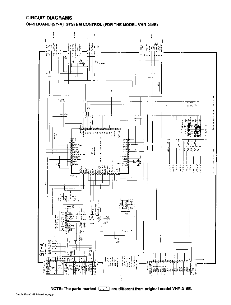 SANYO VHR-244E Service Manual download, schematics, eeprom