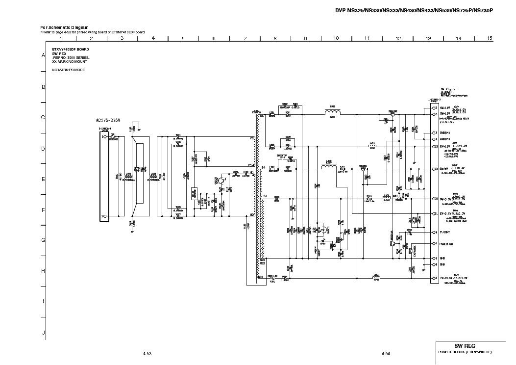 SONY DVP-NS325,330,333,430,433,530,725,730P POWER Service
