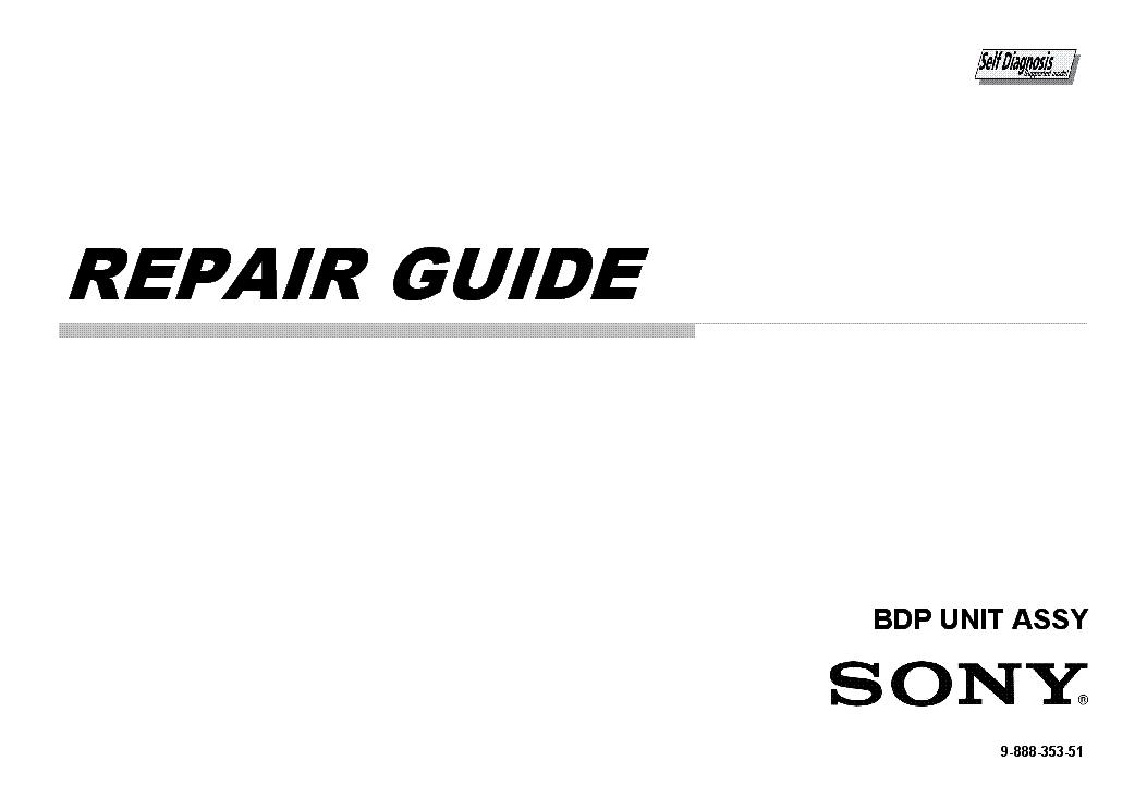 SONY KEM460AA BDP-UNIT-ASSY REPAIR GUIDE Service Manual