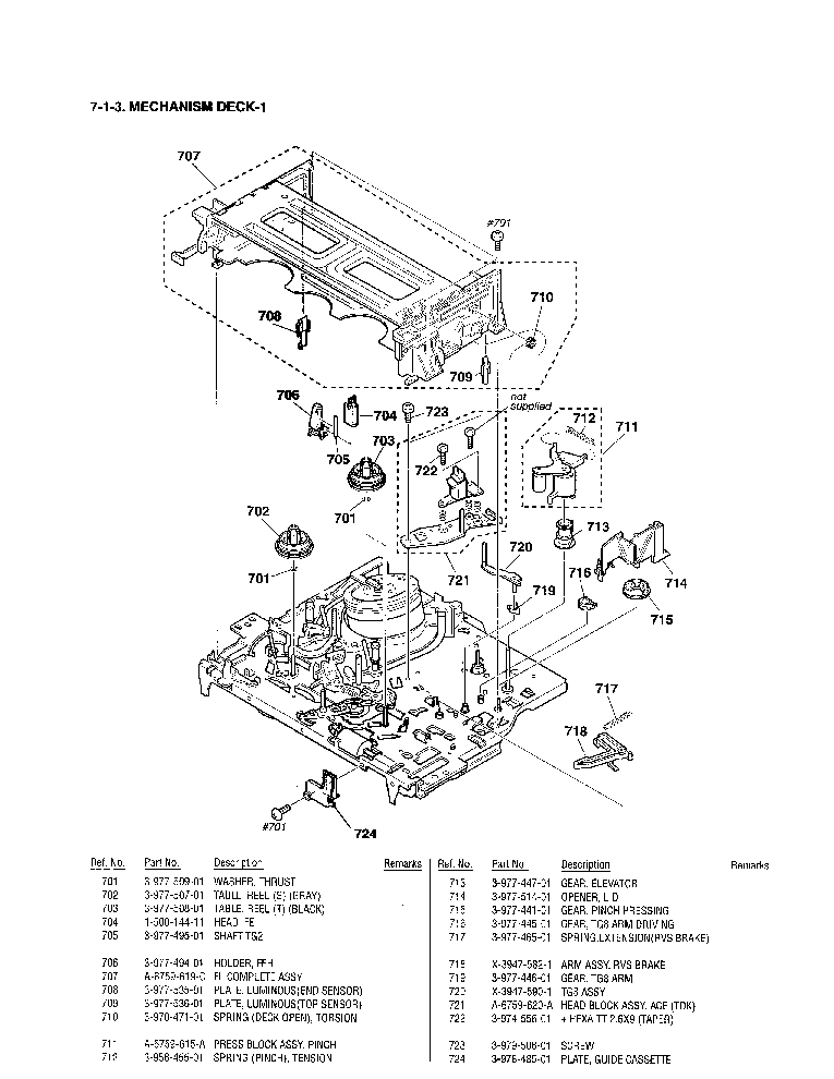 SONY SLV-778HF PARTS Service Manual download, schematics