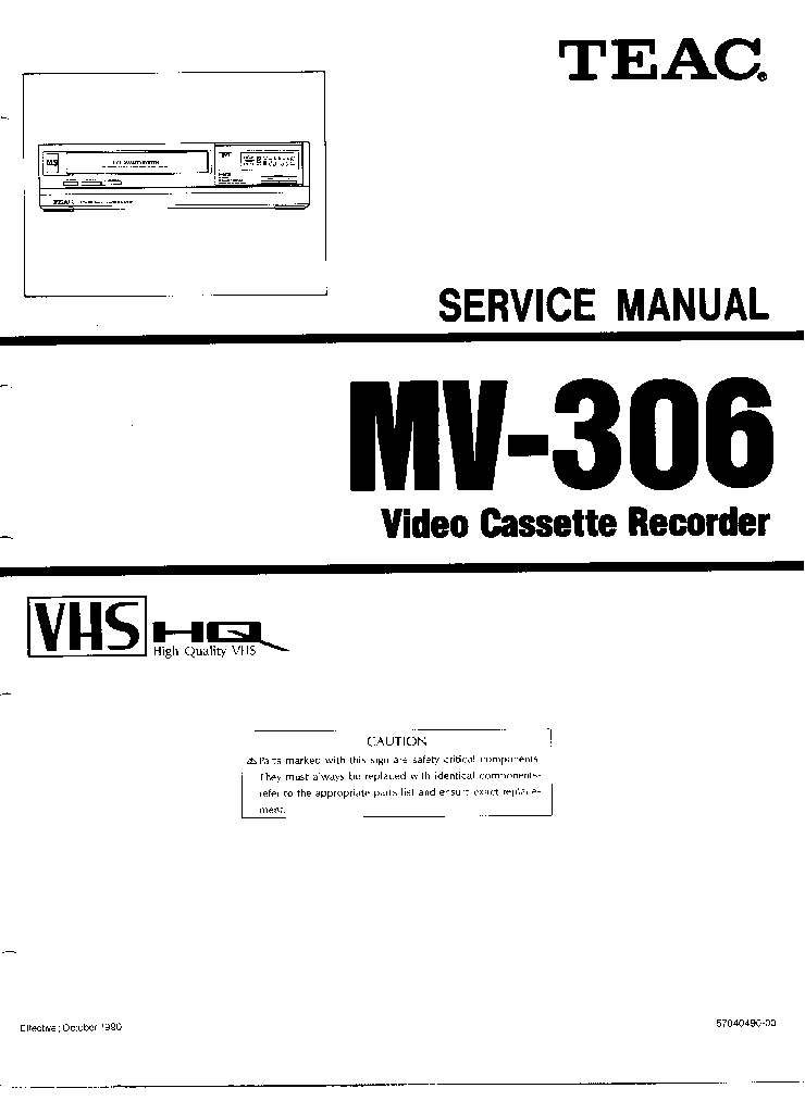 TEAC DV-H500 SM Service Manual download, schematics