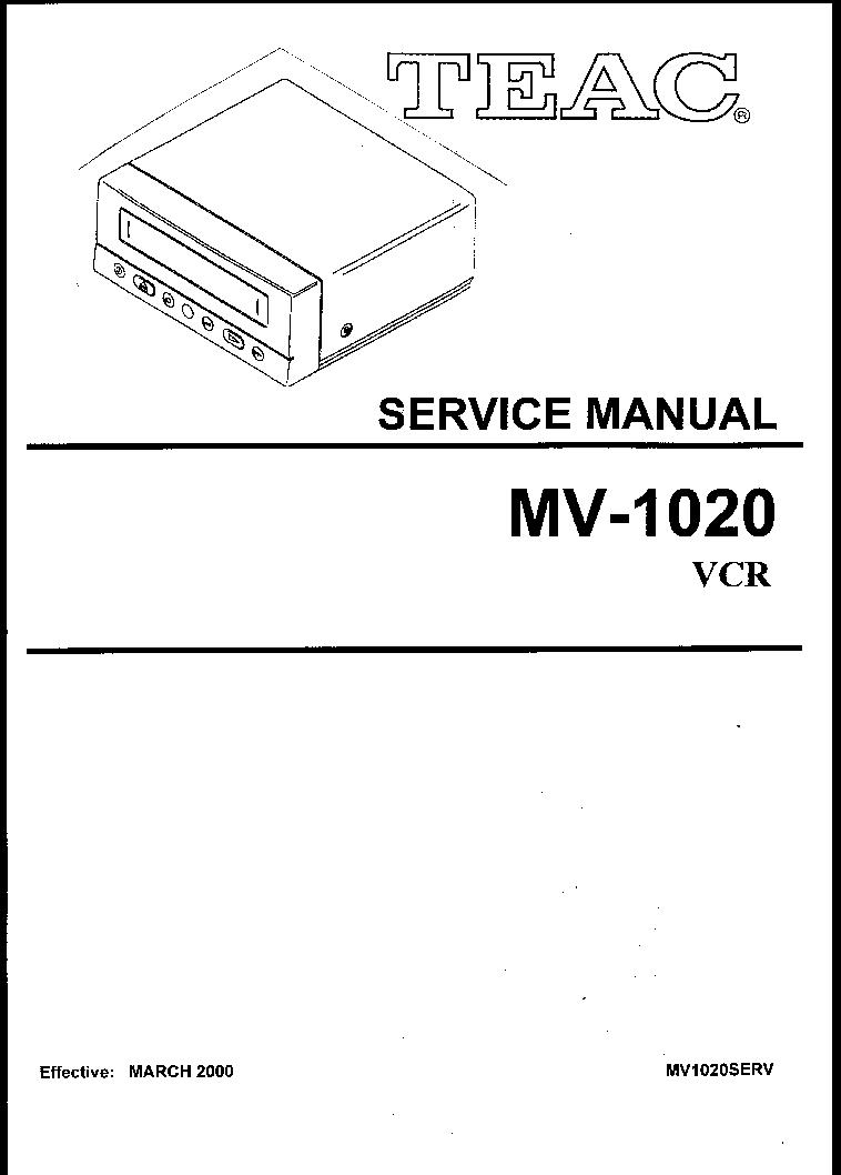 TEAC DR-H300 SM Service Manual download, schematics