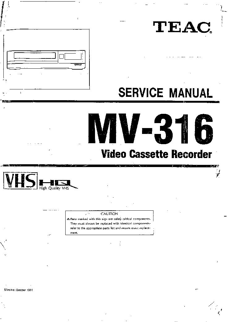 TEAC MV316 SM Service Manual download, schematics, eeprom