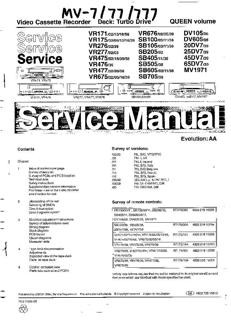 TEAC PL-D2100 SM Service Manual download, schematics