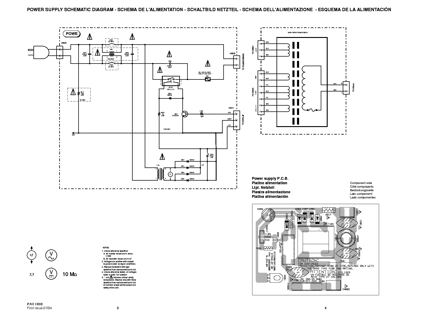 THOMSON DPL580-HT SM Service Manual download, schematics
