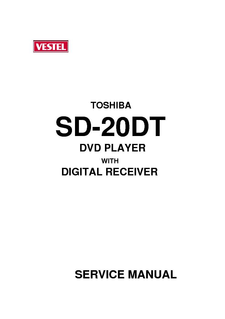 TOSHIBA SD-20-DT-VESTEL-DVD-7300-V-3 Service Manual